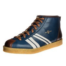 zeha Berlin -  Trainer high Delos 98392, blue / cream / cognac